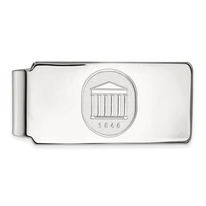 Picture of University of Mississippi Rebels Sterling Silver Crest Money Clip