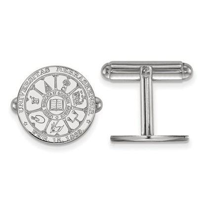 Picture of University of Nebraska Cornhuskers Sterling Silver Crest Cuff Links