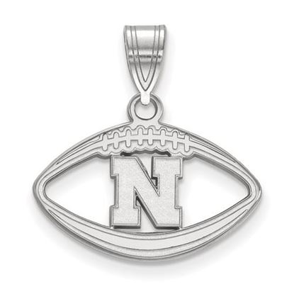 Picture of University of Nebraska Cornhuskers Sterling Silver Football Pendant