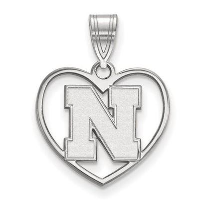 Picture of University of Nebraska Cornhuskers Sterling Silver Heart Pendant