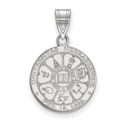 Picture of University of Nebraska Cornhuskers Sterling Silver Medium Crest Pendant