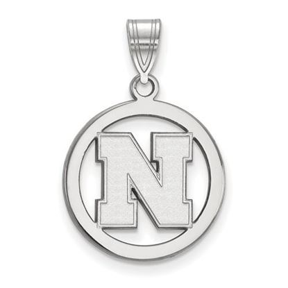 Picture of University of Nebraska Cornhuskers Sterling Silver Small Circle Pendant