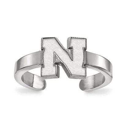 Picture of University of Nebraska Cornhuskers Sterling Silver Toe Ring