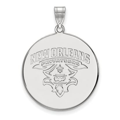 Picture of University of New Orleans Privateers Sterling Silver Extra Large Disc Pendant