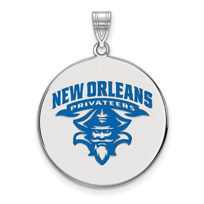 Picture of University of New Orleans Privateers Sterling Silver Extra Large Enameled Disc Pendant