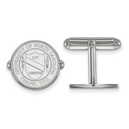 Picture of University of North Carolina Tar Heels Sterling Silver Crest Cuff Links