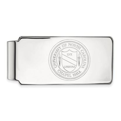Picture of University of North Carolina Tar Heels Sterling Silver Money Clip Crest