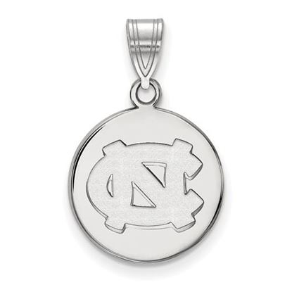 Picture of University of North Carolina Tar Heels Sterling Silver Medium Disc Pendant