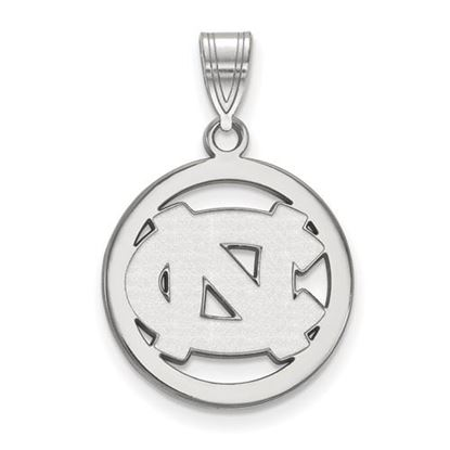 Picture of University of North Carolina Tar Heels Sterling Silver Small Circle Pendant