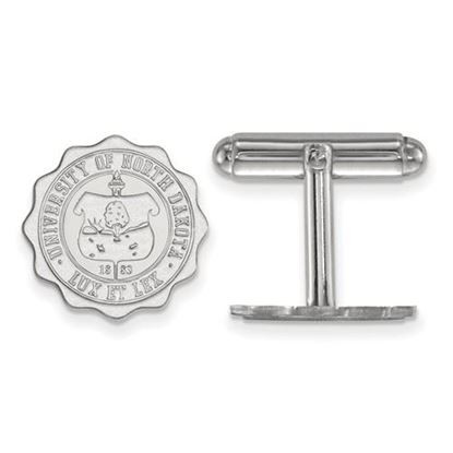 Picture of University of North Dakota Fighting Hawks Sterling Silver Crest Cuff Links