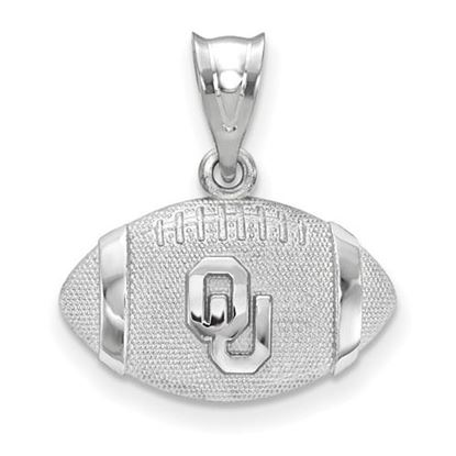 Picture of University of Oklahoma Sooners Sterling Silver Football Pendant