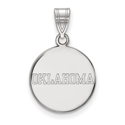 Picture of University of Oklahoma Sooners Sterling Silver Medium Disc Pendant