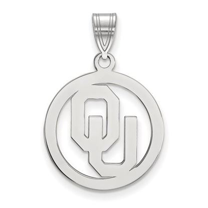 Picture of University of Oklahoma Sooners Sterling Silver Small Circle Pendant