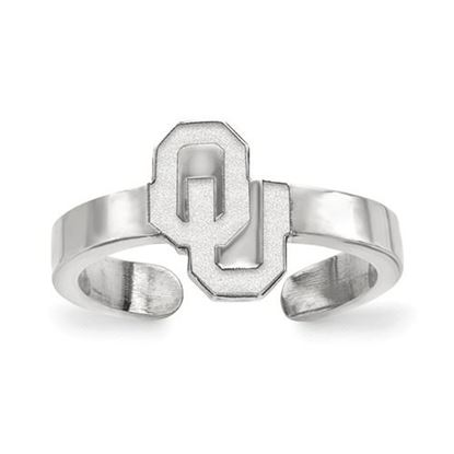 Picture of University of Oklahoma Sooners Sterling Silver Toe Ring