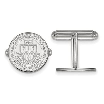 Picture of University of Pittsburgh Panthers Sterling Silver Crest Cuff Links