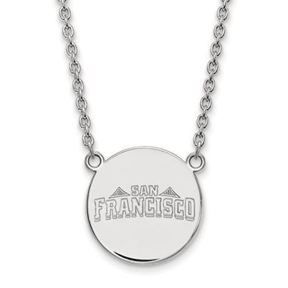 Picture of University of San Francisco Dons Sterling Silver Large Disc Necklace