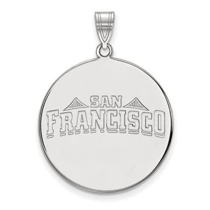 Picture of University of San Francisco Dons Sterling Silver Extra Large Disc Pendant