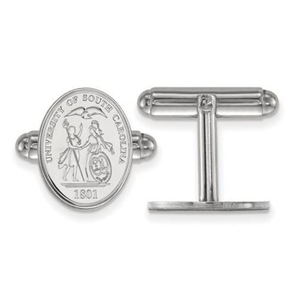 Picture of University of South Carolina Gamecocks Sterling Silver Crest Cuff Links