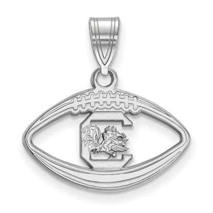 Picture of University of South Carolina Gamecocks Sterling Silver Football Pendant