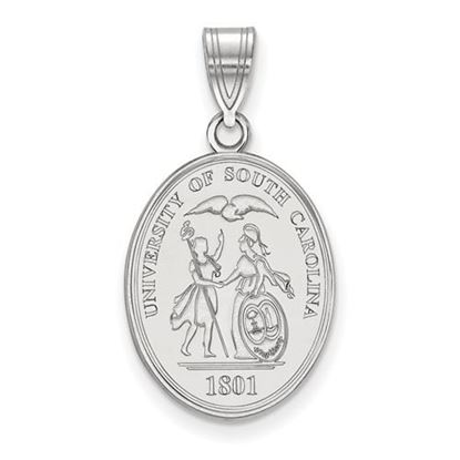 Picture of University of South Carolina Gamecocks Sterling Silver Large Crest Pendant