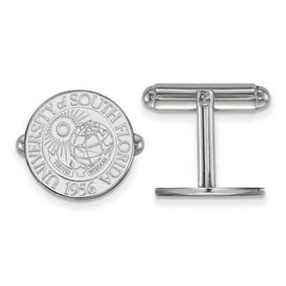 Picture of University of South Florida Bulls Sterling Silver Crest Cuff Links