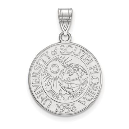 Picture of University of South Florida Bulls Sterling Silver Large Crest Pendant