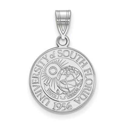 Picture of University of South Florida Bulls Sterling Silver Medium Crest Pendant