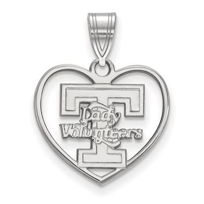 Picture of University of Tennessee Volunteers Sterling Silver Heart Pendant