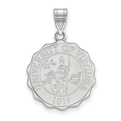 Picture of University of Virginia Cavaliers Sterling Silver Large Crest Pendant