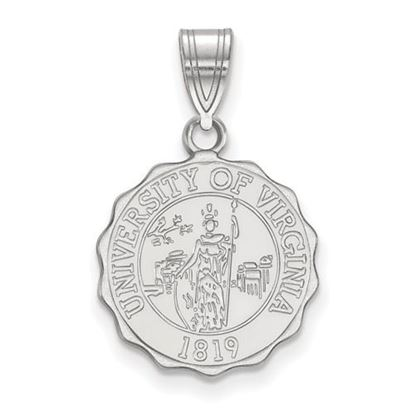 Picture of University of Virginia Cavaliers Sterling Silver Medium Crest Pendant