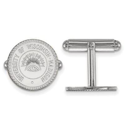 Picture of University of Wisconsin Badgers Sterling Silver Crest Cuff Links