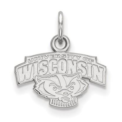 Picture of University of Wisconsin Badgers Sterling Silver Extra Small Pendant