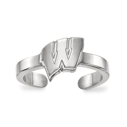 Picture of University of Wisconsin Badgers Sterling Silver Toe Ring