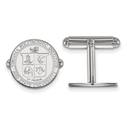 Picture of Virginia Tech Hokies Sterling Silver Crest Cuff Links