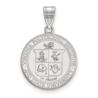 Picture of Virginia Tech Hokies Sterling Silver Large Crest Pendant