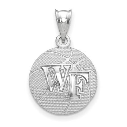 Picture of Wake Forest University Demon Deacons Sterling Silver Basketball Pendant
