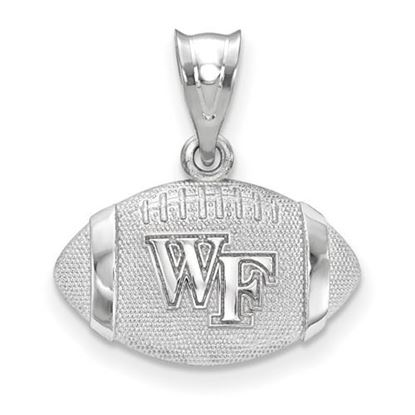 Picture of Wake Forest University Demon Deacons Sterling Silver Football Pendant
