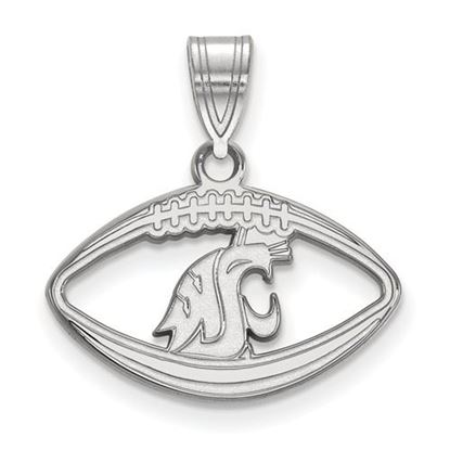 Picture of Washington State University Cougars Sterling Silver Football Pendant