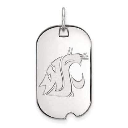 Picture of Washington State University Cougars Sterling Silver Small Dog Tag
