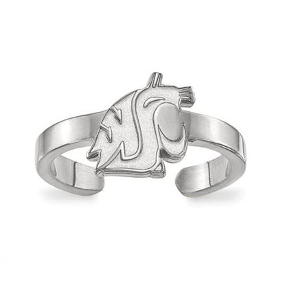 Picture of Washington State University Cougars Sterling Silver Toe Ring