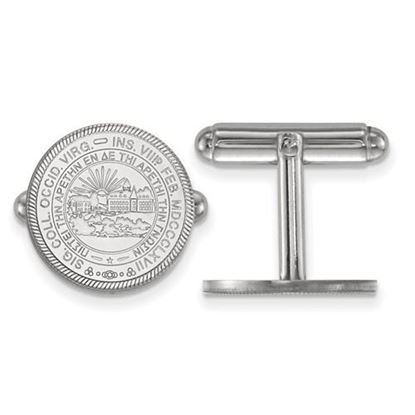 Picture of West Virginia University Mountaineers Sterling Silver Crest Cuff Links