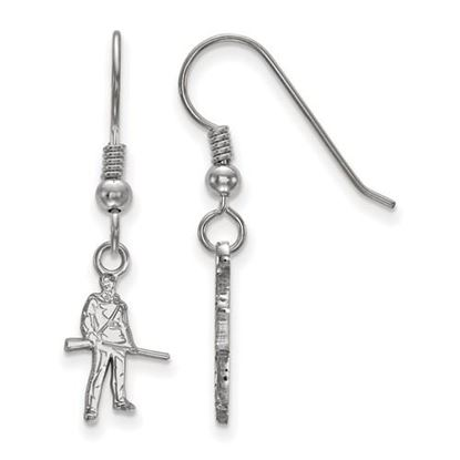 Picture of West Virginia University Mountaineers Sterling Silver Extra Small Dangle Earrings