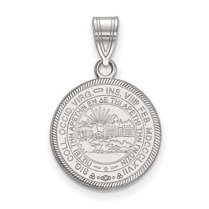 Picture of West Virginia University Mountaineers Sterling Silver Medium Crest Pendant
