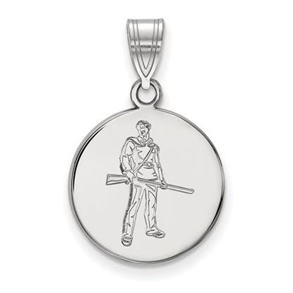 Picture of West Virginia University Mountaineers Sterling Silver Medium Disc Pendant