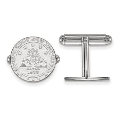 Picture of Western Michigan University Broncos Sterling Silver Crest Cuff Links