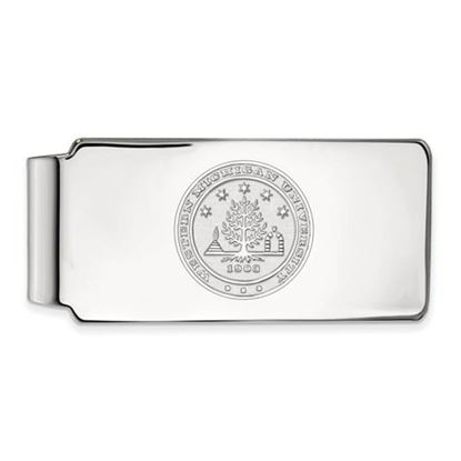 Picture of Western Michigan University Broncos Sterling Silver Crest Money Clip