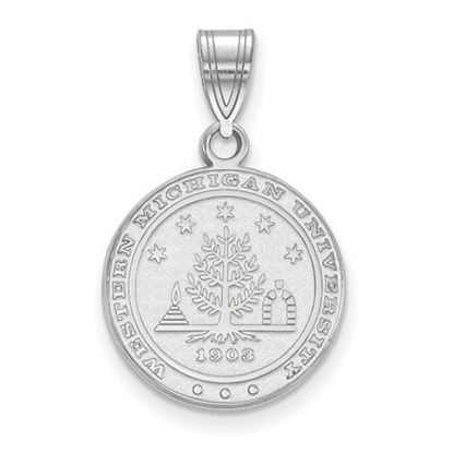 Picture of Western Michigan University Broncos Sterling Silver Medium Crest Pendant