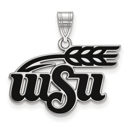Picture of Wichita State University Shockers Sterling Silver Large Enameled Pendant