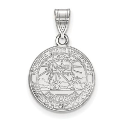 Picture of Wichita State University Shockers Sterling Silver Medium Crest Pendant