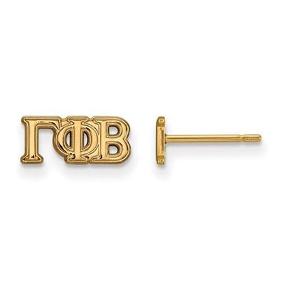 Picture of Gamma Phi Beta Sorority Sterling Silver Gold Plated Post Earrings